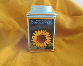 Oneida Vintage Labels Small Canister - Sunflower
