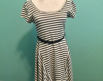 Black and White Stripe Dress - Size Small