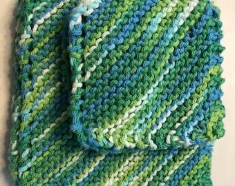 Handmade knitting washcloths - cotton washcloths - Eco by Segao