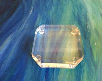 Beveled edge Lucite base for any home decor Lucite supply protect your surface