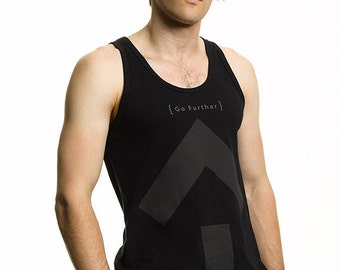 Go Further Tank Top, Long Cut in Black