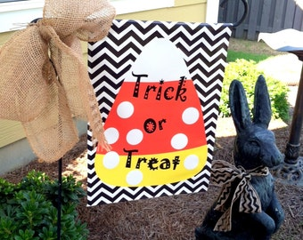 Custom Personalized Yard Sign Candy Corn Trick Or Treat