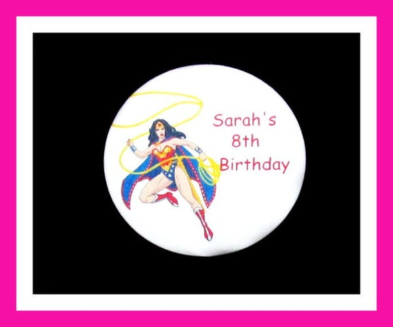 Birthday Party Favor Personalized Button, Superhero Pin Favor,School Favor,Kid Party Favor,Boy Birthday,Girl BirthdayPin,Favor Tag Set of 10