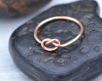 Love Knot Ring, Rose Gold Filled Love Knot, Rose Gold Knot Ring, Friendship Ring, Knotted Ring, Promise Ring, Gift For Her