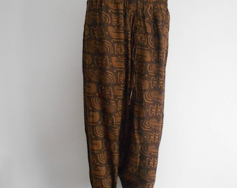 Pants women wide fabric (Ankara) batik patterns