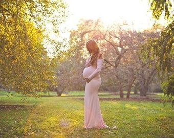 Maternity Dress for Photo Shoot-Long Sleeve Maternity Dress-Maternity Gown-Baby Shower Dress-Maternity Dress Photography-Penelope Dress
