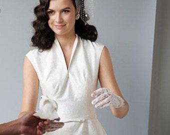 Dotted Blusher Veil, Ivory White, Black, Birdcage Veil, Clip, Comb, Hair Accessory, Wedding Veil, Classic Bridal, Women, Batcakes Couture