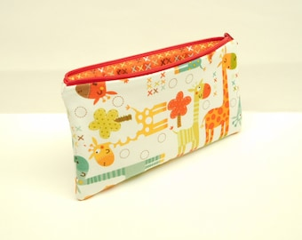pencil case zipper pouch zipper bag makeup bag makeup pouch giraffe pencil case giraffe zipper pouch giraffe makeup bag
