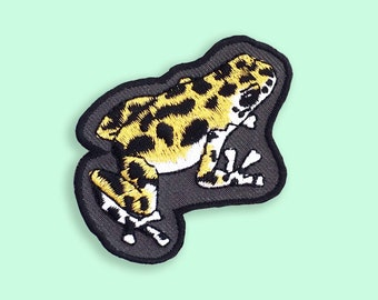 Frog Patch, Flair, Reptile iron on Embroidery, Customise your clothing!