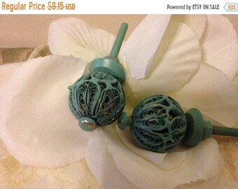 ON SALE, SPRING Sale Drawer Pulls / Drawer Knobs  / Set of 2 knobs / Door Knobs/ Mint Green Knobs