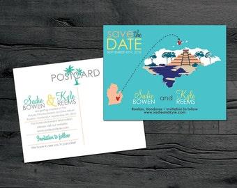 Honduras – Save the Date – Roatan Destination Wedding – Wedding Save the Dates