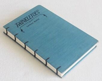 Old Book Journal / Recycled Vintage Book / Recycled Old Book / Twinkletoes Rebound Journal Blank Book by PrairiePeasant