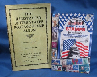 Vintage Envelope of U.S. Stamps and the Illusrated United States Postage Stamp Album