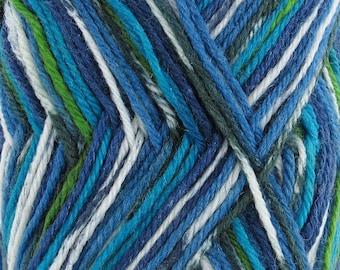 Dancing Feet Wool Blend Yarn  2 x 50g Skeins Beach Side Blue