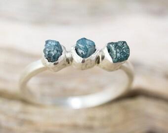 Raw, Rough Diamond Ring