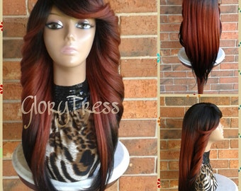 On Sale Long Curly Feathered Flip Lace Front Wig