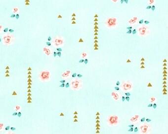 Rosemilk Mint Fabric - Mint Green Floral Fabric - Michael Miller Fabric - Rose  Pink Mint - Brambleberry Ridge Fabric - Shabby Rose Fabric