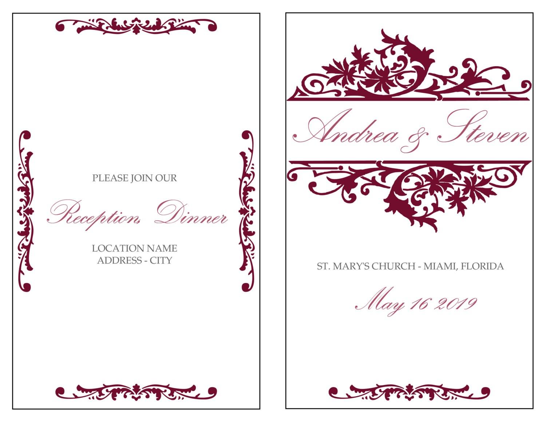 Beste Hochzeitsprogramm Kostenlose Vorlage Fotos - Beispiel ...