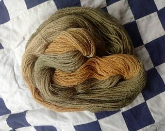 "Handspun, handdyed yarn, ""Autumn Colors"""
