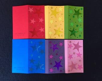 NEW STOCK! Six Rainbow Card Pack #1