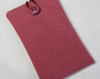 Handmade iPod nano 7th and 8th generation pouch. Orange Pink faux suede.