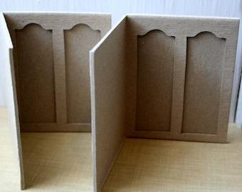 Cardboard Microscope 2 Slide Folders Pkg of 2 Altered Artwork, Shrines or Scrapbooking