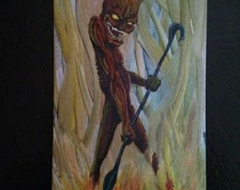 Smiling Devil 8 x 16 acrylic painting