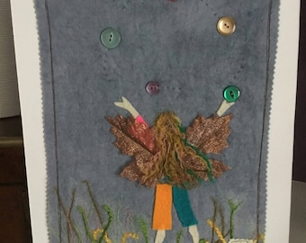 SALE* mixed media juggling faerie