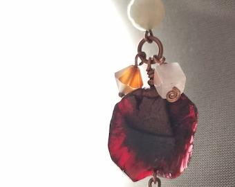 Garnet Love Cluster Short Necklace