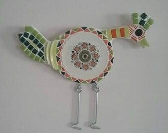 Quirky Green Chicken Mosaic