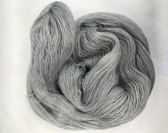 Hand dyed yarn/silver