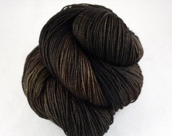 Hand Dyed Sock Yarn, hand dyed wool, variegated sock yarn, nylon sock yarn, brown