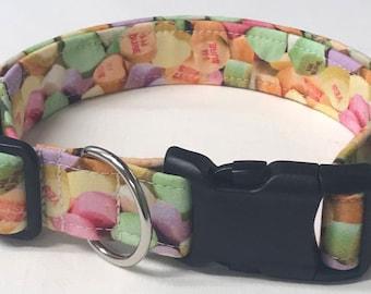 dog collar, SWEEThearts, Valentine's Day, valentine's dog collar, Valentine's collar, heart, heart dog collar, heart collar, valentine