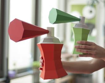 Spray Can - DIY Papercraft Kit