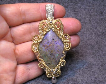 Louisiana Opal (Extremely Rare) Pendant - 43 carats - Extraordinary fire of all colors!!! (Lo136)