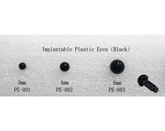 5 pairs Plastic Eyes - Black (3mm,4mm,6mm,7mm,8mm,9mm,10mm,12mm,15mm,22mm), for making doll, wool felt, needle felting, animal craft noses