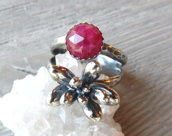 Succulent Ring, Birthstone ring, Statement Ring, Sedum, Wedding jewelry, plant jewelry, succulent jewelry, plant love, plant rings, nature