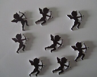 Scrapbooking embellishments stickers 8 wood depicting a Cupid