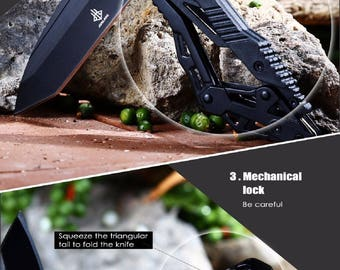 Knife transform JUNLANG length 8 + 11.5 cm blade Tanto