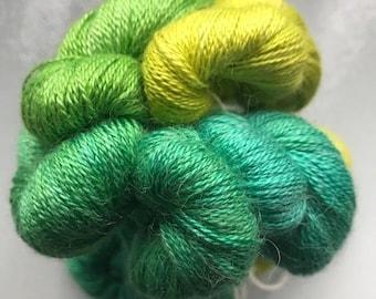 Hand-dyed Mini Skeins Luxury Laceweight Yarn Alpaca Silk