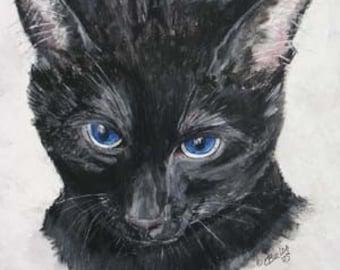 Pet Portrait, horse dog cat portrait, pet memorial, portrait,hand-made hardwood frame acrylic portrait on wood