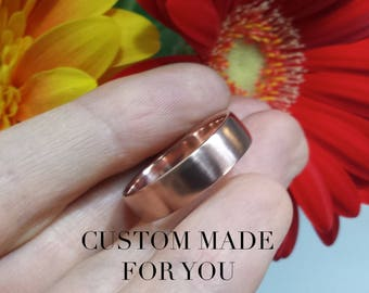 Engravable ladies or mens wedding band , can be personalized, 14kt rose gold 3mm 3.5mm 4mm 4.5mm 5mm 5.5mm 6mm 7mm 8mm satin brushed ring