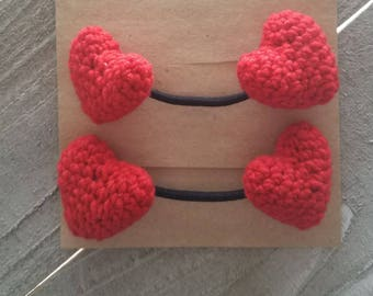 Red Heart Crochet Elastic Hair Ties