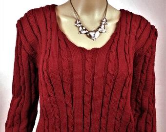 women sweater, Woolen pullover Wool Sweater, sweater is hand knitted sweater women Burgundy Pullover Sweater warm pullover wool sweater winter sweater,
