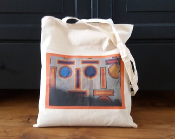 Cotton bag with photographed image StreetArt, Totetas, bag, carrying case