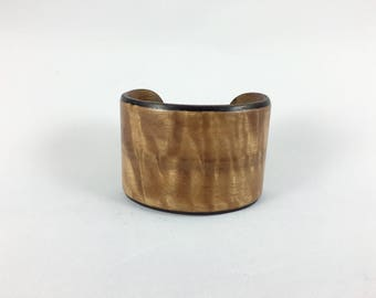 Womans wood bracelet, christmas gift for her, wood bangle wood cuff bracelet, wood anniversary gift, wood boho bracelet  -  Eucalyptus wood