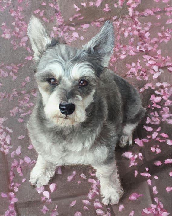 Custom PET PORTRAIT - Pet Painting - Dog Portrait - Oil Painting - Terrier - Perfect Gift