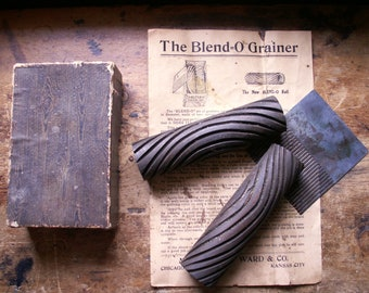 Vintage Blend-0 Grainer Tool Set in Original Box with Directions