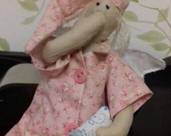 Handmade Dreamy angel Toy Tilda for Children Baptism