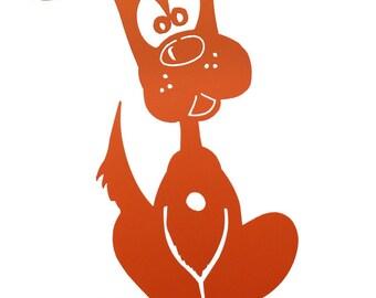 Hand Made Puppy Orange Yard Art *NEW*